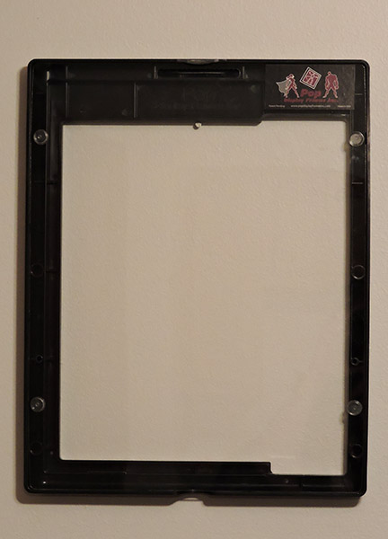 Action Figure Black Frame - Back