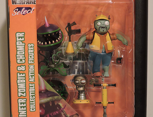 Plants vs Zombies Diamond Select – Engineer Zombie & Chomper Action Figures