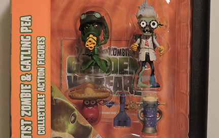 Plants vs Zombies Diamond Select – Scientist Zombie & Gatling Pea Action Figures